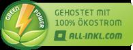 Gehostet mit 100% Ökostrom