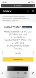 Monitor LMD 2765MD